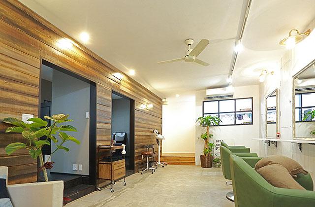 美容室 内装デザイン 施工